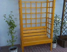 Scaun decorativ cu suport pentru plante cataratoare